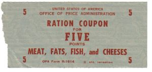 Rationing Coupon